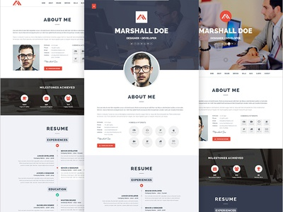 MD - Resume PSD Template
