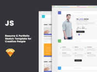 JS - Resume & Portfolio Sketch Template
