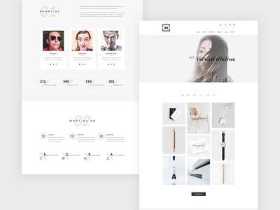 AA - Minimal Creative Portfolio PSD Template flat creative minimal agency design portfolio interface studio ux ui photoshop psd template