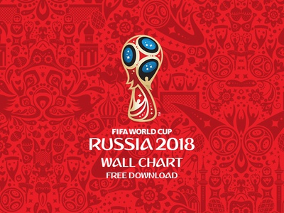 Freebie - FIFA World Cup Russia 2018 Wall Chart 2018 russia wall chart pattern minimal download free soccer football world cup fifa