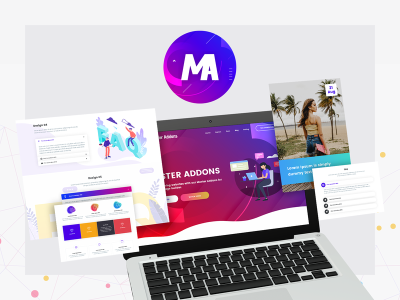 Master Addons - Addon Collection for Elementor elements card download free wordpress elementor widget addons creative design ux portfolio ui minimal