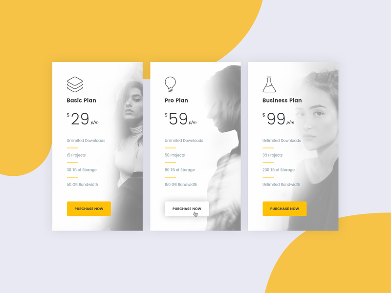 Pricing Table Concept 002 vector mockup photoshop interface design psd template ux portfolio ui minimal