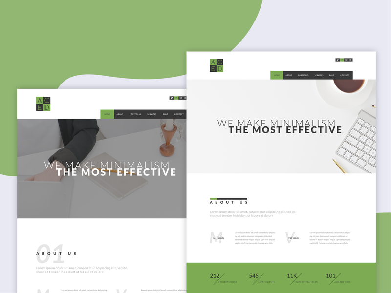 ACED - Minimal Portfolio PSD Template template themeforest vector mockup branding illustration agency design interface psd template ux photoshop ui portfolio minimal