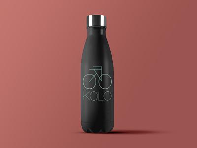 Kolo - 50 Day Logo Challenge - Day 24 water waterbottle bicycle shop wheel czech geometric bicycle bike shop bike kolo dailylogo dailylogochallenge typography logodesign logo graphicdesign design