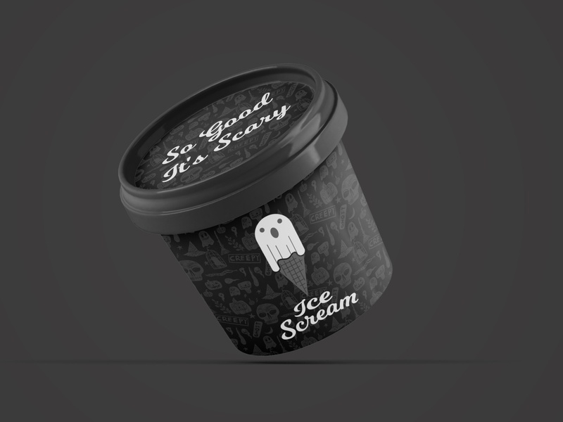 Ice Scream - 50 Day Logo Challenge - Day 27 cream gelato ice cream halloween spoopy scream cone ghost icecream spooky dailylogo logo design illustration vector dailylogochallenge typography logodesign branding logo design