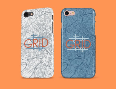 Grid - 50 Day Logo Challenge - Day 29 graphic design i7 iphone phone case car service taxi rideshare grid dailylogo logo design photoshop dailylogochallenge logodesign branding logo graphicdesign