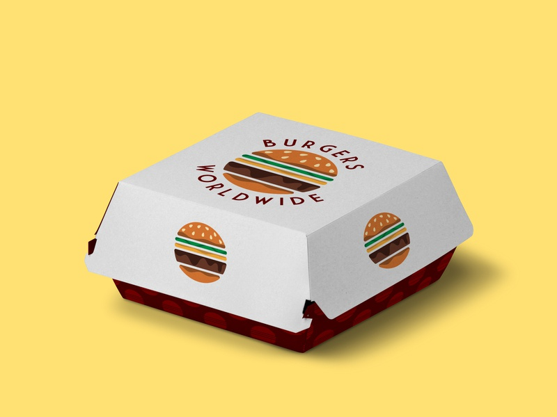Burgers Wordlwide - 50 Day Logo Challenge - Day 33 burger logo minimal cheeseburger hamburger fast food fastfood packaging burger joint burger vector dailylogo logo design illustration dailylogochallenge logodesign illustrator branding graphicdesign