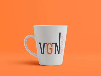VGN - 50 Day Logo Challenge - Day 37 news network videogamenews vgn news network mug logo design dailylogo design logo branding graphicdesign logodesign photoshop typography dailylogochallenge
