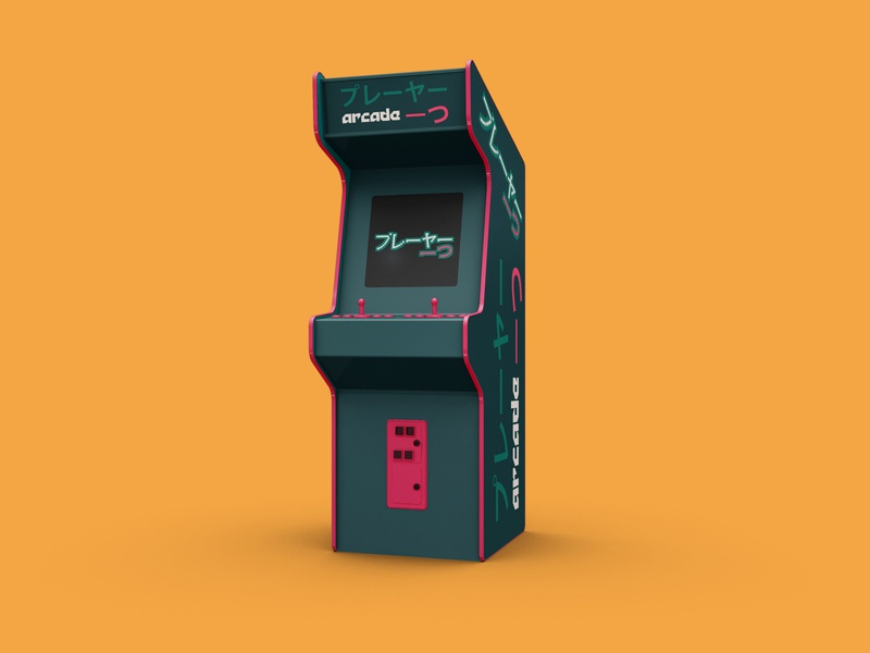 Player One - 50 Day Logo Challenge - Day 50 arcade machine arcade cabinet arcade game kanji japan gaming videogames arcade player player one vector illustrator photoshop logo design dailylogo typography dailylogochallenge logodesign logo branding