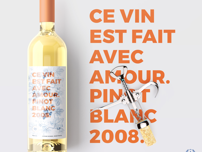 For the love of wine advertising typography graphic design product design design