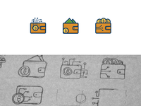 Cryptocurrency Wallet Icons...