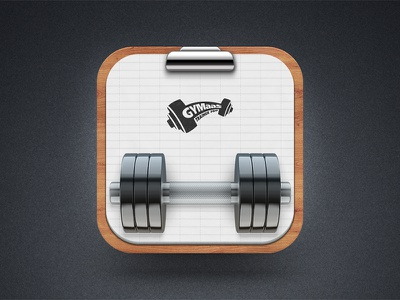 Clipboard dumbbell fitness gym sport manager trainer
