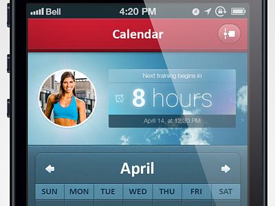 Training calendar calendar sport fitness timer