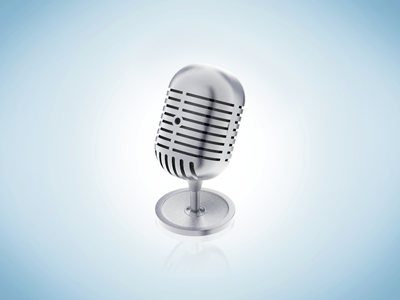 Microphone icon microphone icon audio sound 3d c4d
