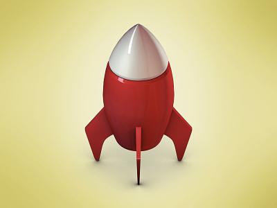 Rocket icon rocket icon launch c4d 3d render
