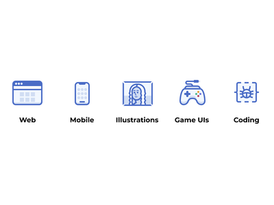 Icons representing my experience vector design illustration game ui icon