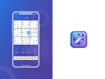 Sudoku Game Concept interface app game sudoku ios icon