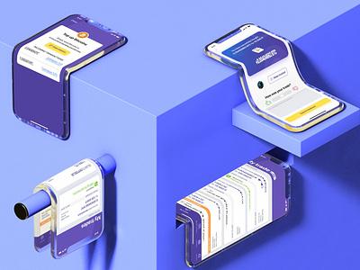 Not your standard mockup iphone x iphonex ios interface app ui c4d 3d