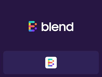 Blend   App Logo Design brand icon animation illustration typography visualstyle vectorart badrrehman branding brandidentity