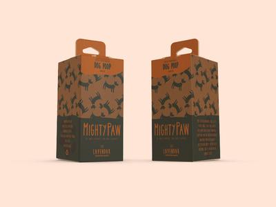 Dog Poop Packaging dogs dog kraft orange print carton packaging