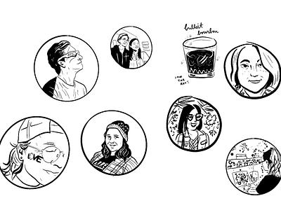 Portrait doodles #1 comics illustration