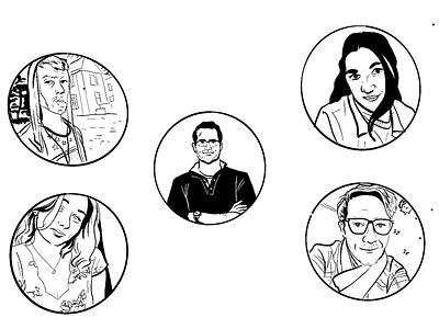 Portrait doodles #2 comics illustration
