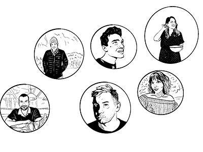 Portrait doodles #3 comics illustration