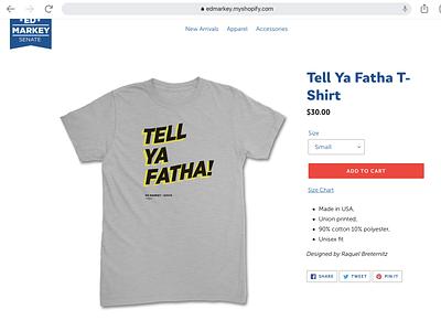 Tell Ya Fatha tee shirt shirtdesign
