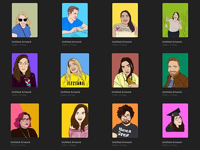 Portraits portraits illustration comics colorful cartoon