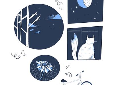 Night watch spooky season illustration cartoon comics