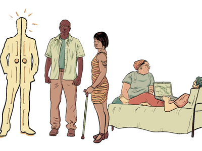Embodied Disability Illustrations - 2 justice disability cartoon colorful comics illustration