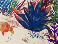 Texas Wildlife Riso Print detail