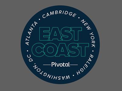Pivotal Labs East Coast Ops Team  Logo east coast logo design