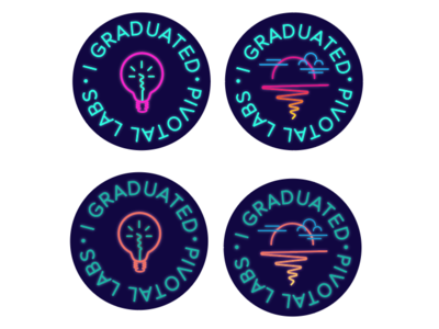 """80s-inspired """"I graduated"""" buttons"""