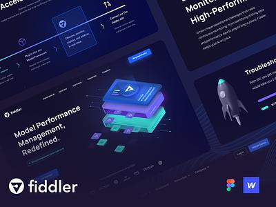 Fiddler Branding & Website Redesign webflow monitoring tech branding ai design website landing hero ux ui