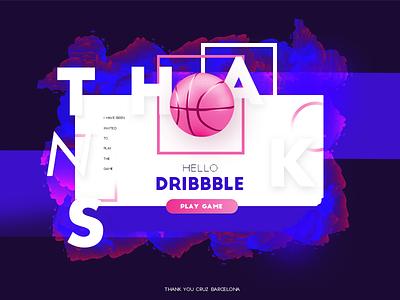 Hello Dribbble! ux ui debut shot first hi hello