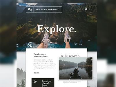 Travel UI website web inspiration landing travel uidesign ux ui