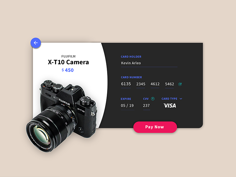 Daily UI #2 Credit Card Checkout payment form ux ui checkout card credit
