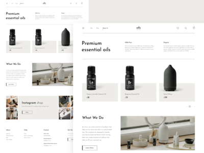 E-Commerce Essential Oils
