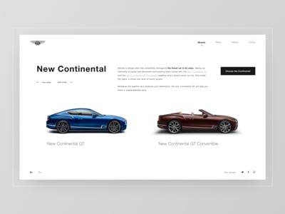Models. New Continental. BENTLEY. 100 EXTRAORDINARY YEARS