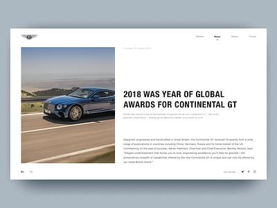 News. BENTLEY. 100 EXTRAORDINARY YEARS branding animation news веб-дизайн luxury car luxury bentley car web typography design photoshop figma uidesigner ux uitrends ui uidesign dribbble webdesign