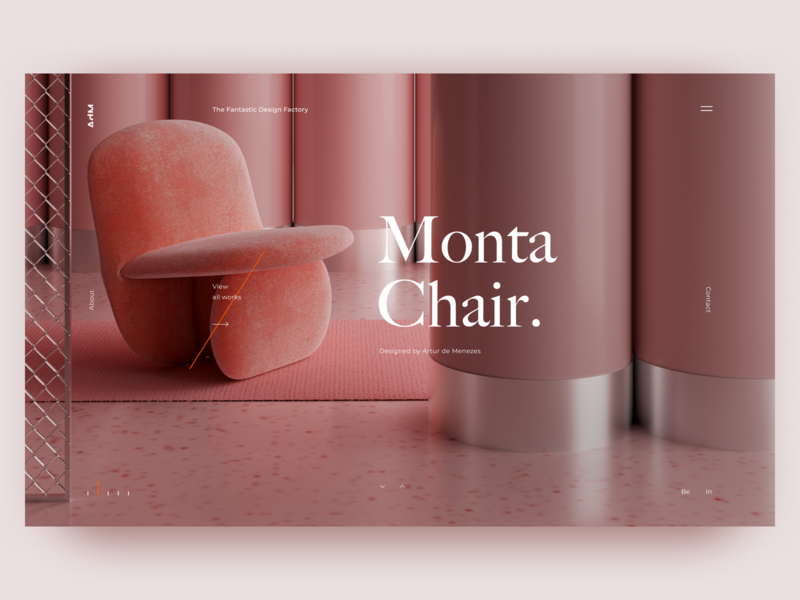 Monta Chair. portfolio user experience user interface furniture design furniture chair design chairs chair landingpage web typography uidesigner design uitrends uidesign figma ux ui dribbble webdesign
