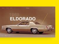 Retro Car. Cadillac Eldorado 1968