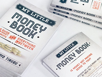 My Little Money Book vintage typography type retro print logo lettering design branding