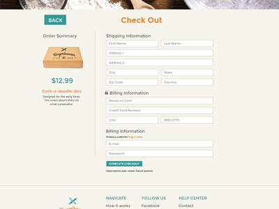 Bageriboxen Check Out Screen web design ux ui store shop product mobile interaction ecommerce checkout