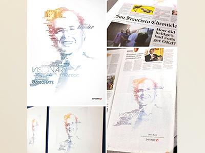 Steve Burd Typographic Portrait safeway graphic design print typographic portrait portrait type typography illustration