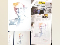 Steve Burd Typographic Portrait