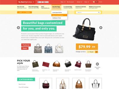 Cherrytotes E-commerce Website ui ux product web pastel clean modern shopping website ecommerce design web design website