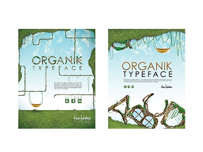 Organik Posters print type photo manipulation illustration typeface typography
