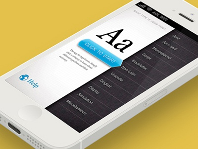 WTIYT - What Type if Your Type App type typography user interface mobile app design